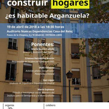 Mesa redonda: Viviendas para construir hogares, ¿es habitable Arganzuela?