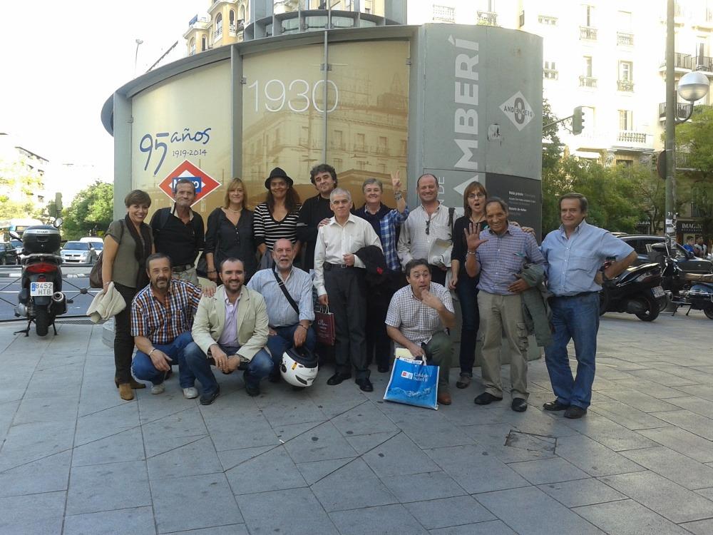 Visita guiada por voluntarios de Metro de Madrid a la estación de Chamberí