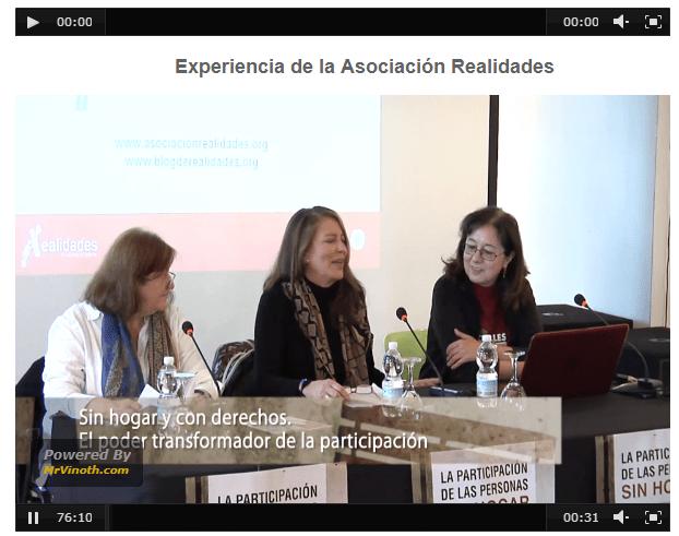 Conferencias sobre Participación y Personas sin Hogar