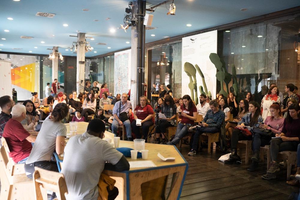 Jornada 'Sin Hogar pero Con Muros' de la Asociación realidades en Matadero Madrid