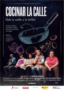 """Cartel """"Cocinar la calle"""" de la Asociación Realidades"""