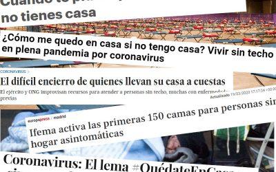 Personas sin hogar y Covid-19: ¿cómo aparecemos en los medios?
